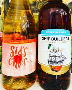 Shipbuilders Moscato & Sid's Strawberry Rhubarb 4-pack