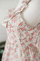 Floral Chiffon & Lace Summer Top