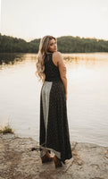 Olive Printed Button Maxi Dress