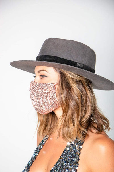 Sequin Face Mask in Yellow Gold or Rose Gold