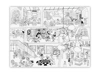 Giant Coloring Poster: Day at the Art Museum