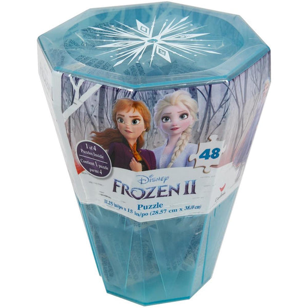 Frozen 2 48pc Surprise Puzzle (Plastic Gem-Shaped Storage Case)