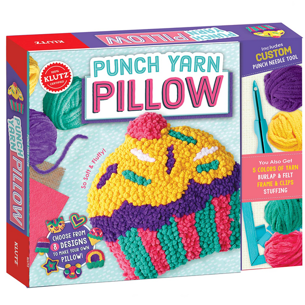 Punch Yarn Pillow Kit