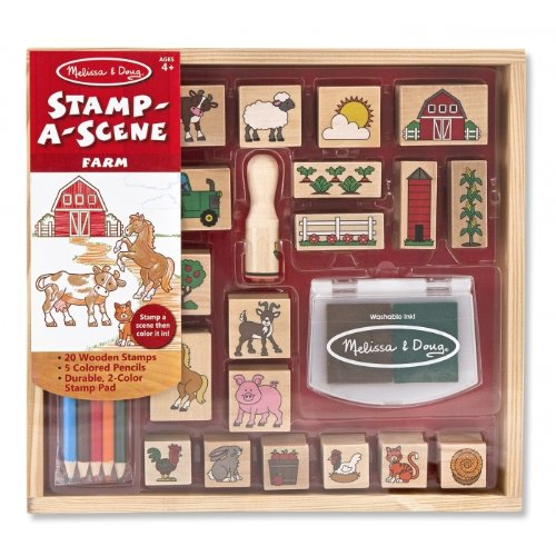 Wooden Stamp-A-Scene: Farm
