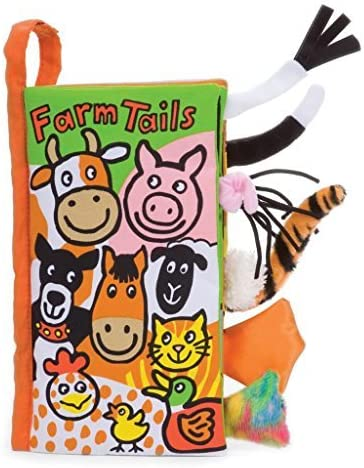 Soft Cloth Baby Books, Farm Tails