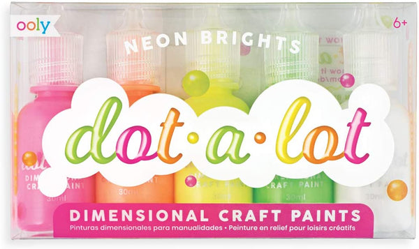 Dot-a-Lot Dot Neon Painting Set, Set of 5