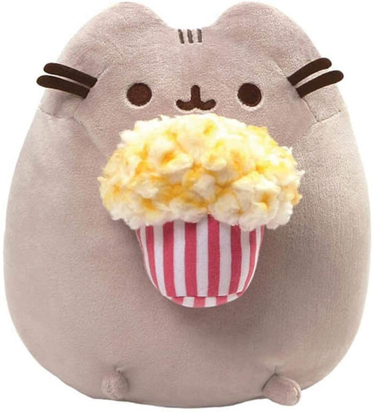 Stuffed Pusheen with Popcorn, 9.5""