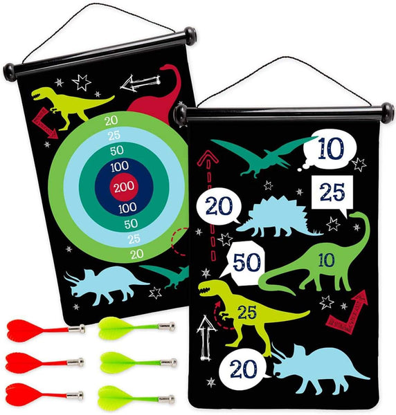 Double-Sided Magnetic Darts: Dinosaur