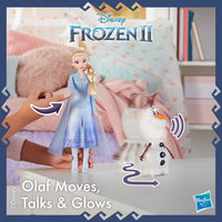 Talk and Glow Olaf and Elsa Dolls (with Lights & Sounds)