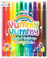 Yummy Scented Twist Up Crayons, Set of 10