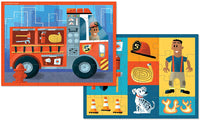 Two-sided Fire Engine 24pc Puzzle (ages 3+)