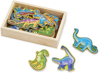 Wooden Magnets in a Box: Dinosaurs