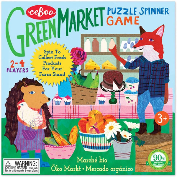 Green Market Spinner Board Game