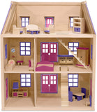 Multi-Level Wooden Doll House