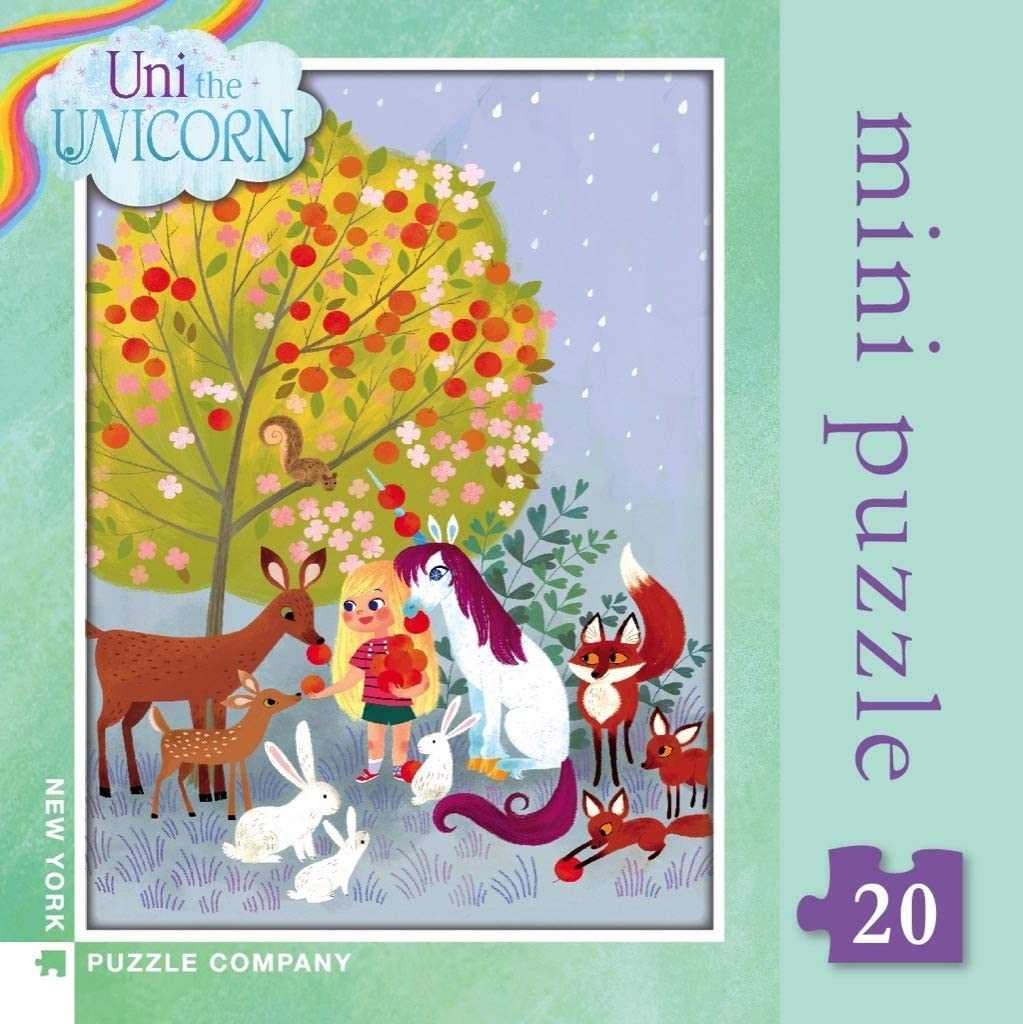 Uni The Unicorn Forest Creatures 20pc Mini Puzzle Lulu S Cuts And Toys