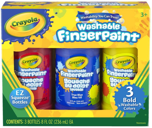 Washable Fingerpaints Bold, Set of 3