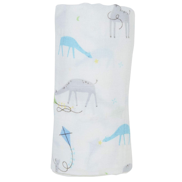 Bamboo Swaddle Blanket: Giraffes with Kites