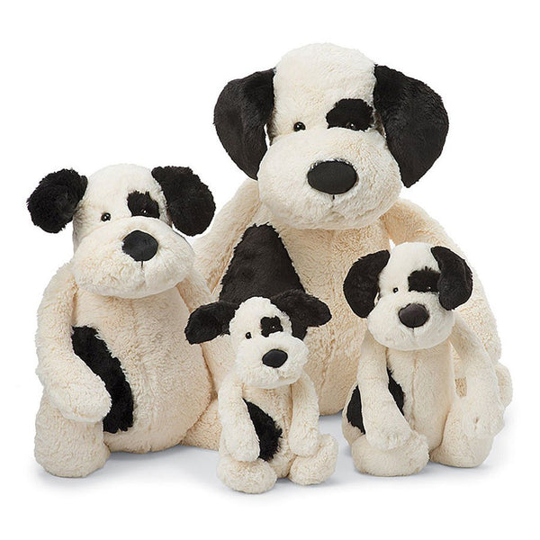 Bashful Black & Cream Puppy, Multiple Sizes