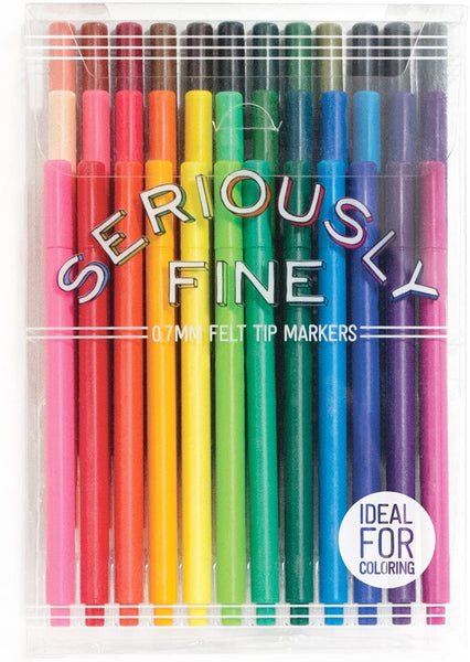 Seriously Fine Felt Tip Markers, Set of 36