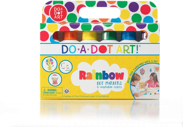 Do a Dot! Rainbow Washable Paint Markers, Set of 6