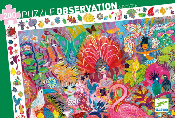 Rio Carnivale 200pc Puzzle (Observation & Poster)