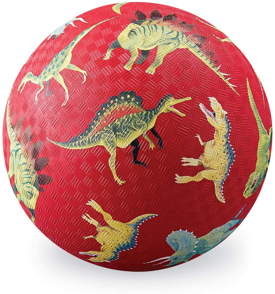 "7"" Playground Ball: Dinosaur, Red"