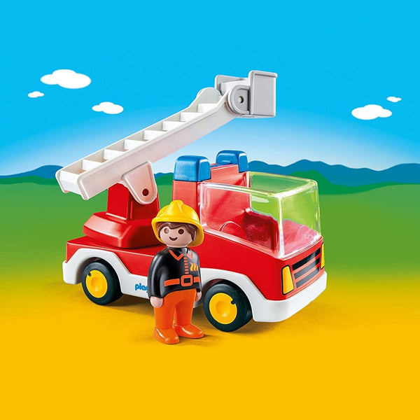 Playmobil 1-2-3: Ladder Unit Fire Truck