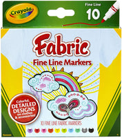 Fine Tip Fabric Markers, Set of 10