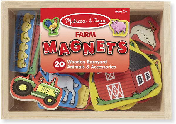 Wooden Magnets in a Box: Farm