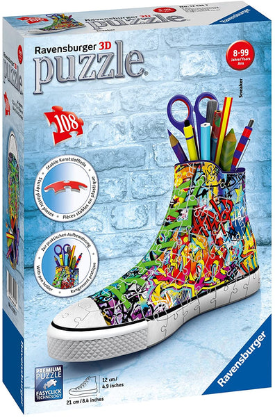 3D Sneaker Graffiti 108pc Puzzle (ages 8+)