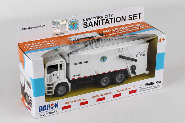 NYC Sanitation Set: Garbage Truck with Can
