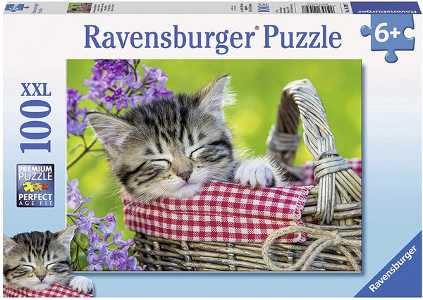 Sleeping Kitten 100pc Puzzle