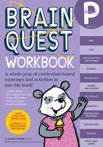 Brainquest Workbook: Pre-Kindergarten