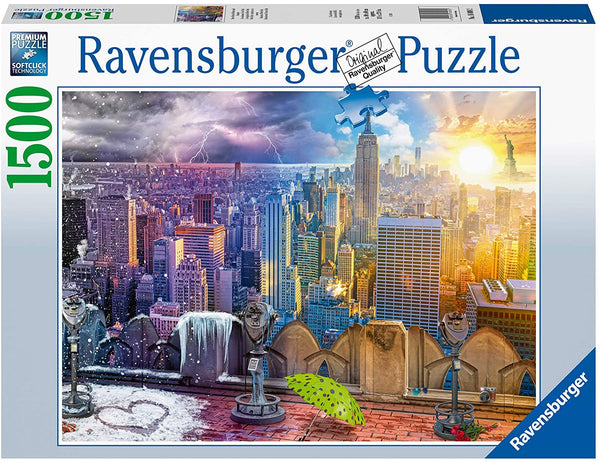 Day & Night NYC Skyline 1500pc Puzzle