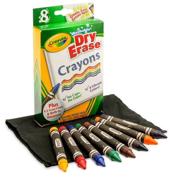 Large Dry-Erase Crayons, Set of 8