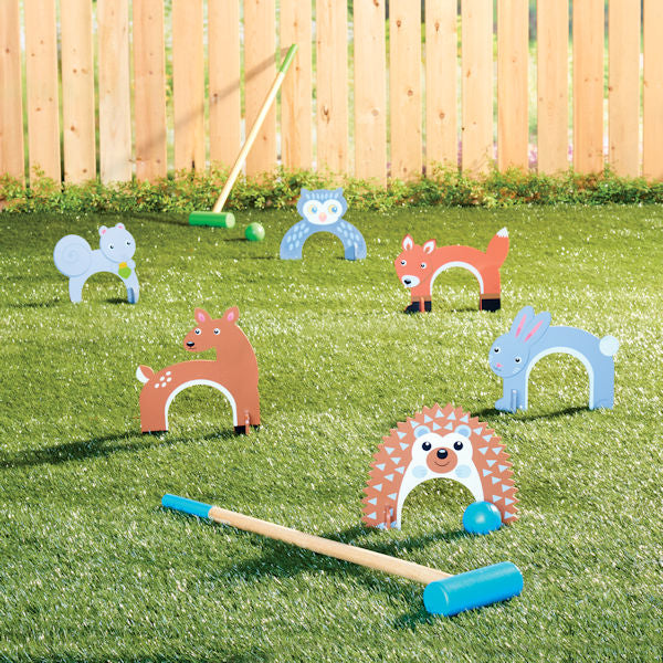 Croquet Set: Woodland Animals