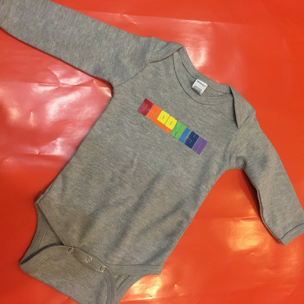 Brooklyn Rainbow Long Sleeve Onesie