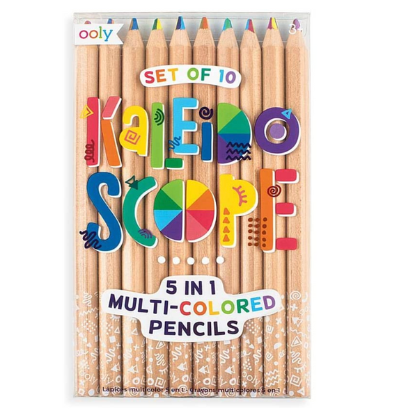 Kaleidoscope Multi Colored Pencils, Set of 10