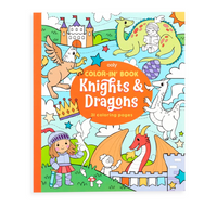 Color-In' Book: Knights & Dragons