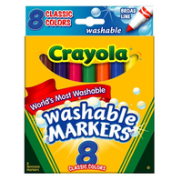 Broad Line Washable Markers, Set of 8