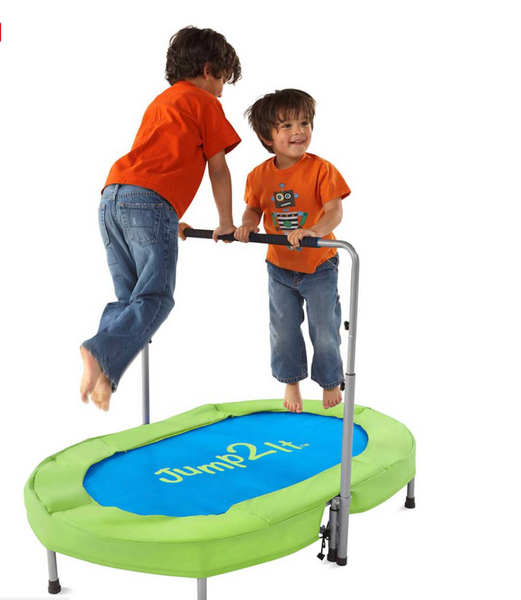 Jump2it Indoor Trampoline with Adjustable Handle