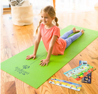 Yoga Mat with Yoga Pose Card Deck