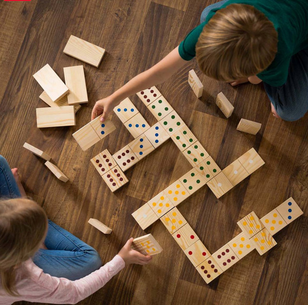Large Wooden Domino Set