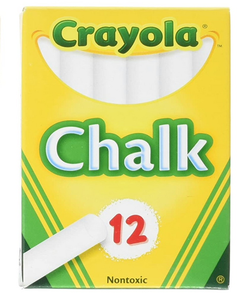 Blackboard Chalk White, 12 ct