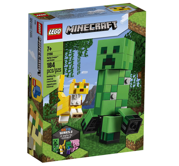 Lego Minecraft: Creeper BigFig and Ocelot