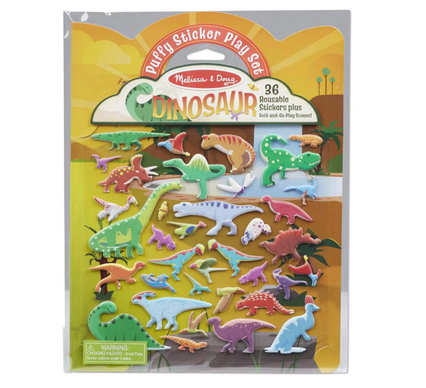 Puffy Reusable Sticker Play Set: Dinosaurs
