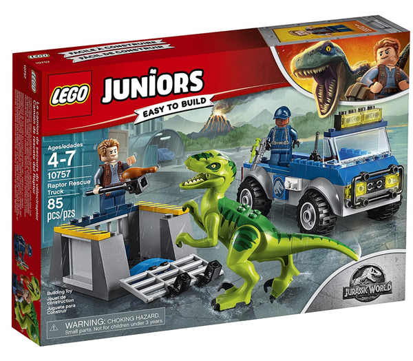 Lego Juniors Jurassic World: Raptor Rescue Truck