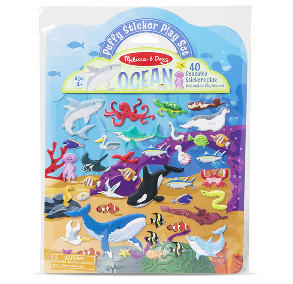 Puffy Reusable Sticker Play Set: Ocean