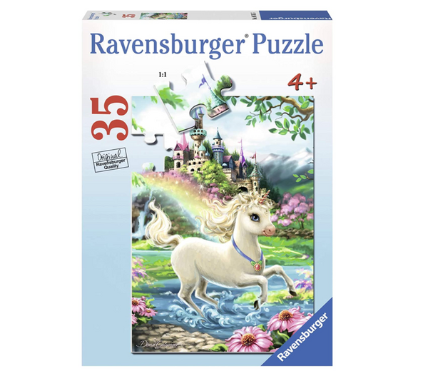 Unicorn Castle 35pc Puzzle (ages 4+)
