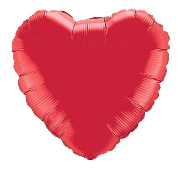 "Mylar Balloon: 18"" Ruby Red Heart"